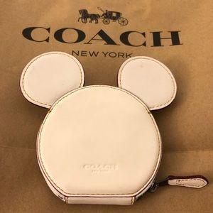 Coach MICKEY Coin Purse with Mickey Ears